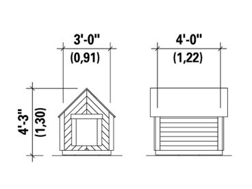 Doghouse Plans Doghouse Plan 072x 0088 At Www Theprojectplanshop Com
