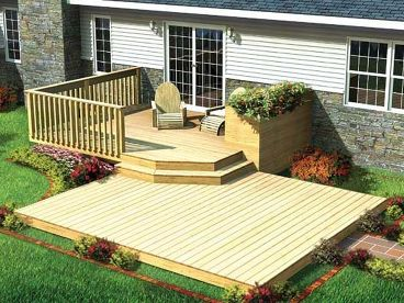Split-Level Patio Deck Plan, 047X-0010