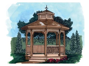Octagon Gazebo Plan, 033X-0002