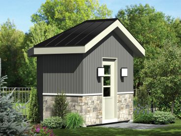 Multi-Size Storage Shed Plan, 072S-0026