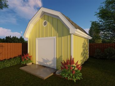 Barn-Style Shed Plan, 050S-0009