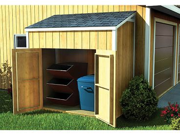 Lean-To Shed Plan, 047S-0008