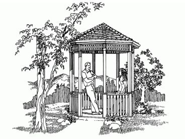 Octagon Gazebo Plan, 033X-0009
