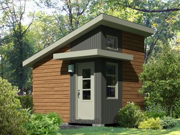 Garden Shed Plan, 072S-0027