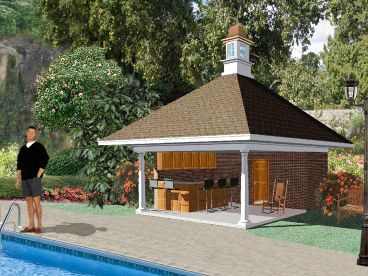 Pool House Design, 006P-0002