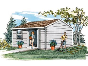 Storage Shed Plan, 033S-0004