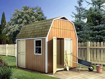 Storage Shed Plan, 047S-0005