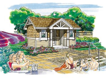 Pool House Plan, 033P-0002