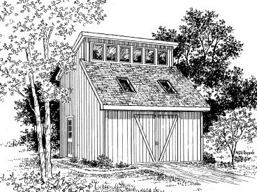 Garden Shed Plan, 057S-0003