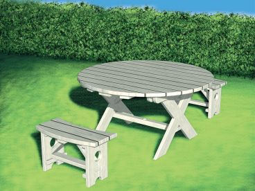 Outdoor Furniture Plan, 072X-0107