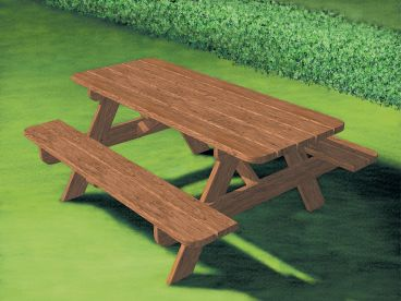 Outdoor Furniture Plan, 072X-0105
