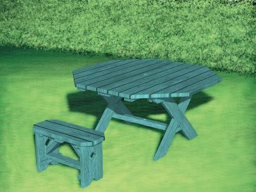 Outdoor Furniture Plan, 072X-0106