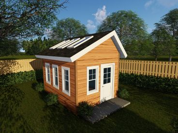 Garden Shed Plan, 050S-0014