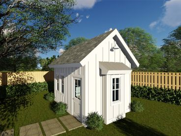 Garden Shed Plan, 050S-0011