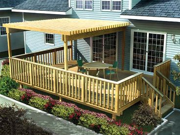 Raised Deck Plan with Trellis, 047X-0004