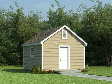 Garden Shed Plan, 006S-0003