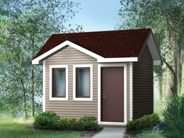 Multi-Size Garden Shed Plan, 072S-0012