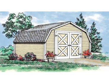 Barn-Style Shed Plan, 033G-0006