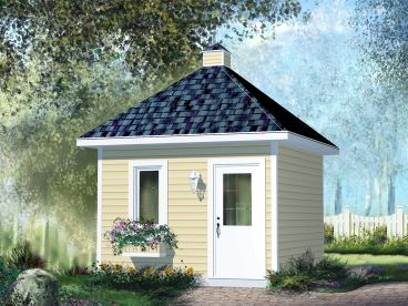 Multi-Size Garden Shed Plan, 072S-0016