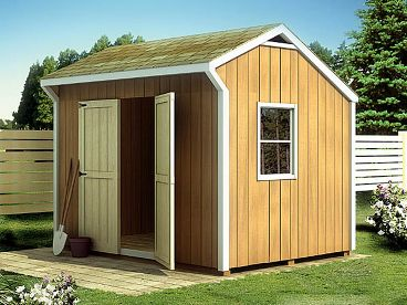 Salt Box Shed Plan, 047S-0007