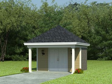 Backyard Shed Plan, 006S-0002