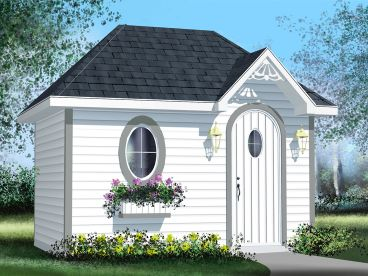 Storage Shed Plan, 072S-0019