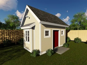 Utility Shed Plan, 050S-0012