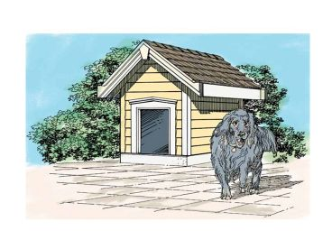 Dog House Plan, 033X-0013