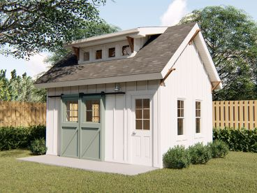 Storage Shed Plan, 050S-0015
