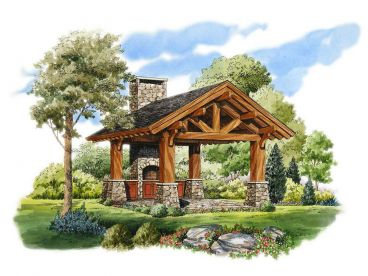 Rustic Dining Pavilion, 066X-0002