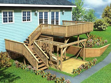 Deck Plan with Play Structure, 047X-0008
