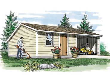 Utility Shed Plan, 033S-0003