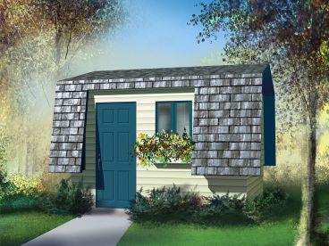 Storage Shed Plan, 072S-0003