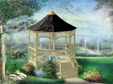 Hot Tub Gazebo Plan, 072X-0027