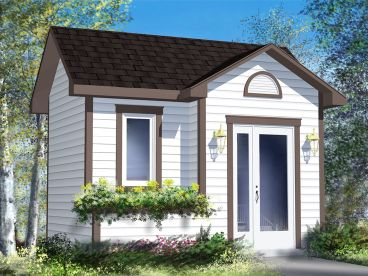 Multi-Size Garden Shed Plan, 072S-0018