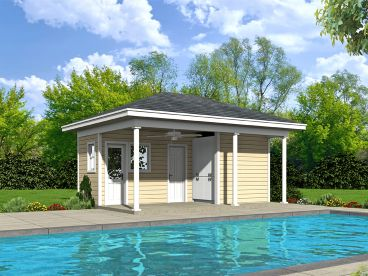 Pool House Plan, 062P-0002