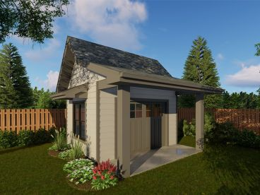 Storage Shed Plan, 050S-0001