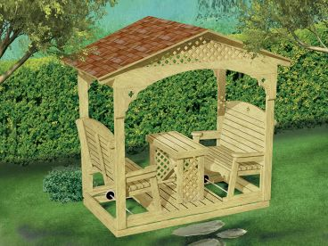 Outdoor Furniture Plan, 072X-0112
