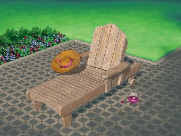Outdoor Furniture Plan, 072X-0109