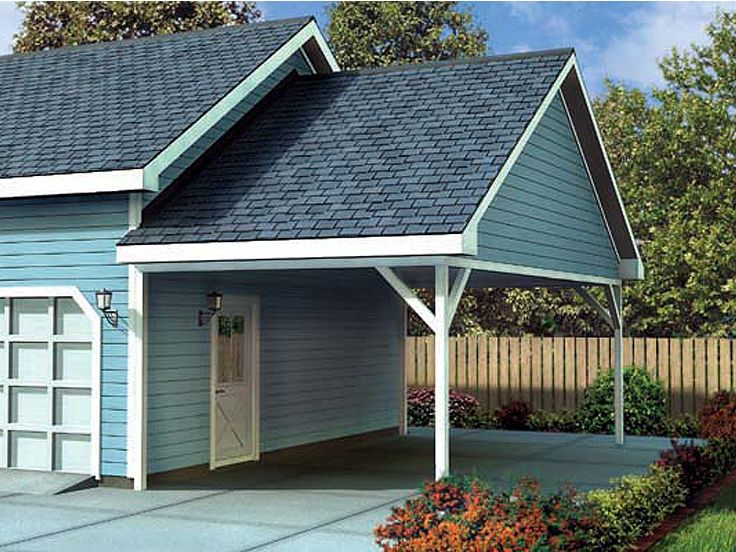 Attached Carport Plan,  047G-0023