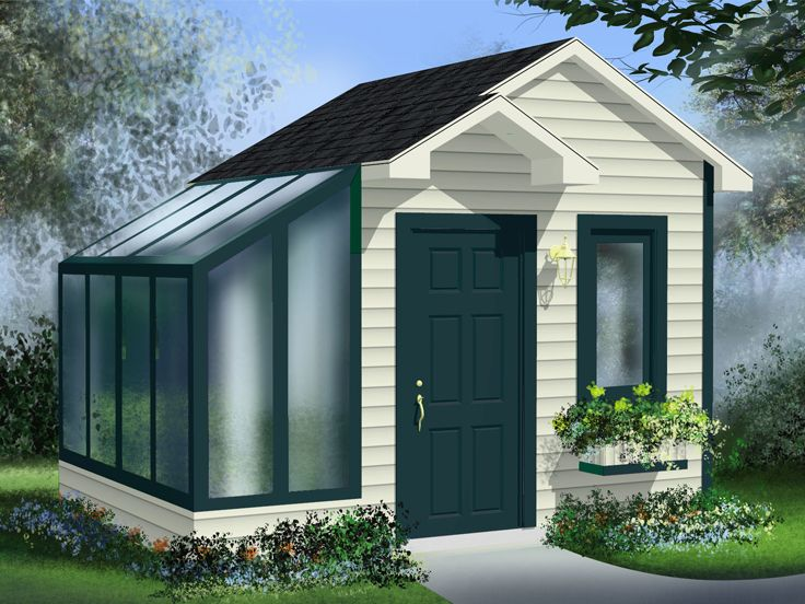 Garden Shed Plan, 072S-0020